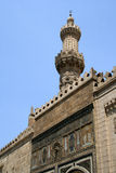Minaret mosque. Minaret of al azhar mosque in cairo - egypt stock photography