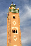 Minaret of the mosque in Ait Benhaddou Stock Image