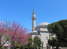 Minaret of the mosque Royalty Free Stock Photo