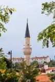 Minaret of Mosque in Bozcaada Stock Images