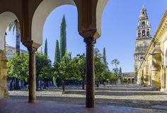 Minaret Mosque Cordoba, Spain Royalty Free Stock Image