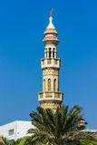 The minaret of a mosque Stock Photo