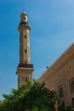 The minaret of a mosque Stock Photos
