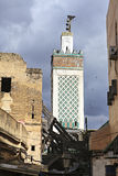 Minaret of mosque in fez city Stock Images
