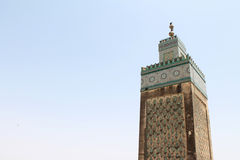 Minaret of mosque in Fez Marocco Royalty Free Stock Photos
