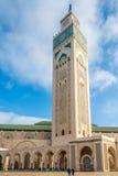 Minaret of Mosque Hasan II. in Casablanca - Morocco Royalty Free Stock Photos