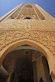 Minaret of the mosque of Hassan II. Royalty Free Stock Photos