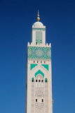 Minaret of the Mosque of Hassan II Royalty Free Stock Images