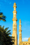 Minaret of the mosque. Hurghada Royalty Free Stock Image