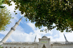 Minaret and mosque, Istanbul, Blue Mosque Stock Photos
