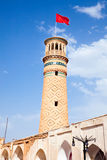 Minaret of  mosque in Kashan, Iran Royalty Free Stock Photography