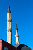 Minaret of the mosque. In Kemer, Turkey royalty free stock photos