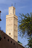The minaret of a mosque in Meknes, Morocco Royalty Free Stock Images