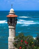 The minaret of the mosque in old Jaffa Royalty Free Stock Photos