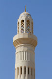 Minaret of a mosque in Oman. With blue sky Royalty Free Stock Photo