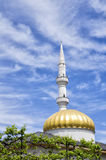 Minaret of the Mosque Orta Jame against a beautiful sky, Batumi Stock Photos