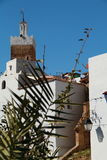 Minaret. Of a mosque in the village of Chefchaouen in Morocco Royalty Free Stock Photography