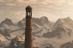 Minaret and Mountains Royalty Free Stock Photo