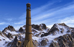 Minaret in the Mountains Royalty Free Stock Photo