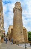 Minaret of Muhammad Mosque in Old city, Icheri Sheher. Baku Stock Image