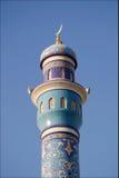 Minaret in Muttrah in Muscateldruif, Oman Royalty-vrije Stock Afbeelding