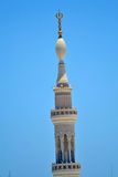 Minaret in Nabawi Mosque stock photo