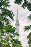Minaret of National Mosque in Malaysia Stock Photography