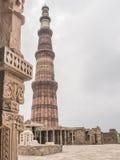 Minaret a New Delhi. Qutb Minar, famous minaret in India Stock Images