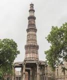 Minaret a New Delhi. Qutb Minar, famous minaret in India Stock Photography