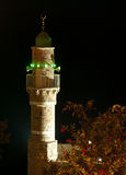 Minaret at night Stock Photography