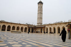 Minaret now destroyed of the Great Mosque of Aleppo - Syria Royalty Free Stock Image