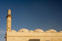 Minaret och kupoler av en moské Fotografering för Bildbyråer