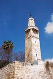 Minaret in the Old City of Jerusalem Stock Images