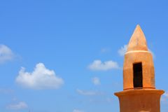 Minaret in Old Jaffa. Against the sky Stock Images