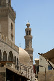 Minaret of old mosque. In cairo royalty free stock photo