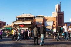 Minaret in the old town of Marrakesh Stock Image