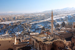 Minaret of the old town in the Middle East Royalty Free Stock Images