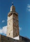 Minaret Omar meczet zdjęcie stock
