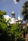 Minaret ovanför trädblasten Royaltyfria Bilder
