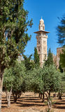 Minaret over the Temple Mount in Jerusalem Royalty Free Stock Photos