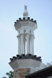Minaret på Kuala Lumpur Jamek Mosque i Malaysia Fotografering för Bildbyråer