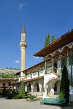 The minaret of the Palace of the Crimean Khan to the inner yard. In Bakhchisarai Crimea Stock Photo