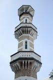 minaret przy Kuala Lumpur Jamek meczetem w Malezja Fotografia Stock