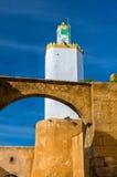 Minaret przy Mazagan nawracał od latarni morskiej - el, Maroko Zdjęcia Royalty Free