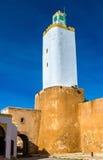 Minaret przy Mazagan nawracał od latarni morskiej - el, Maroko Obrazy Royalty Free