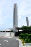 Minaret of Puncak Alam Mosque at Selangor, Malaysia. SELANGOR, MALAYSIA – JANUARY 05, 2015: Puncak Alam Mosque located at Puncak Alam, Selangor, Malaysia stock image