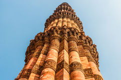 The minaret of Qutub Minar in Delhi Royalty Free Stock Images