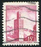 Minaret in Rabat stock afbeeldingen