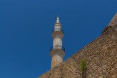 Minaret in Rethmno Stock Afbeeldingen