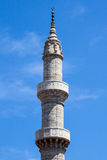 Minaret Rhodes Island Greece Stock Images